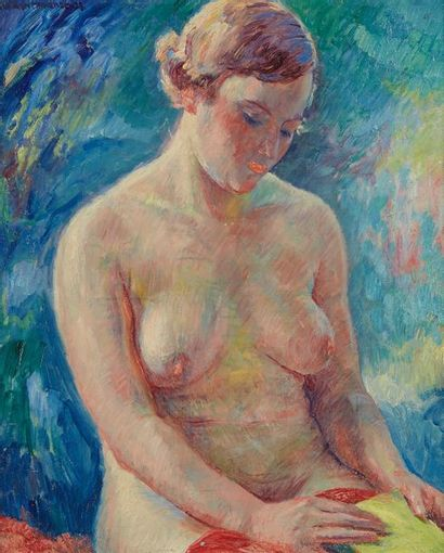 William MALHERBE (1884-1951)  Nu  Panneau,...