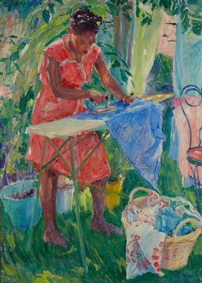 William MALHERBE (1884-1951)  La repasseuse...