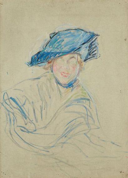 William MALHERBE (1884-1951)  Chapeau bleu...