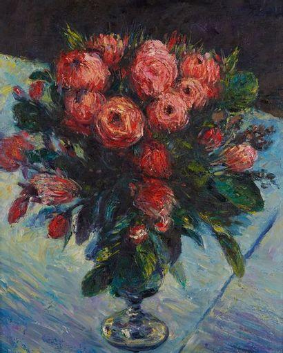 Ecole MODERNE du XXe siècle Bouquet de roses...