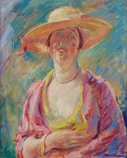 William MALHERBE (1884-1951)  Femme au chapeau...