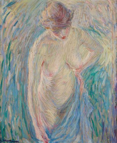 William MALHERBE (1884-1951)  Nu à la serviette...