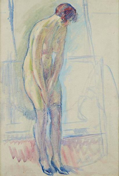 William MALHERBE (1884-1951)  Nu debout  Toile,...