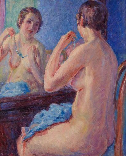William MALHERBE (1884-1951)  Nu au miroir...