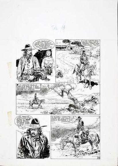 SERPIERI, Paolo Eleuteri (1944) L'homme médecine Encre de Chine pour la planche de...