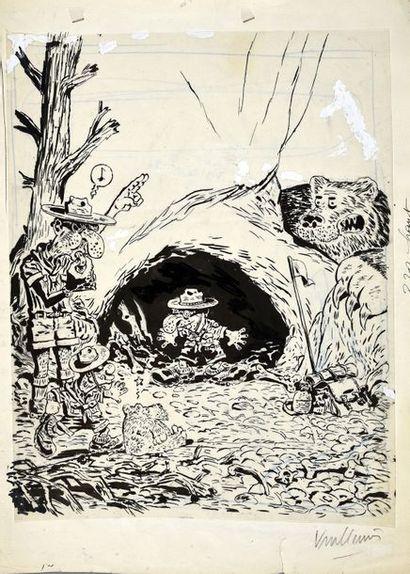VUILLEMIN, Philippe (1958) LES SALES BLAGUES DE L'ECHO. TOME 15 Illustration de...