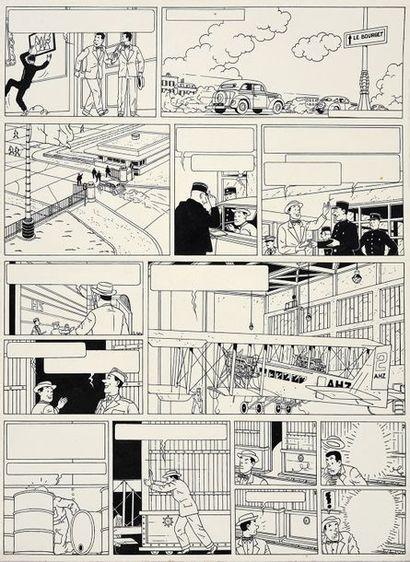 DE MOOR, Bob (1925-1992) L'énigmatique Mr Barelli Encre de Chine pour la planche...