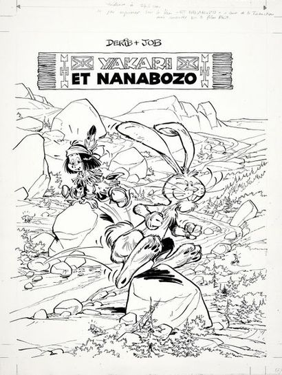 DERIB (Claude de Ribeaupierre, dit -1944) Yakari. Tome 4. Yakari et Nanabozo. Encre...