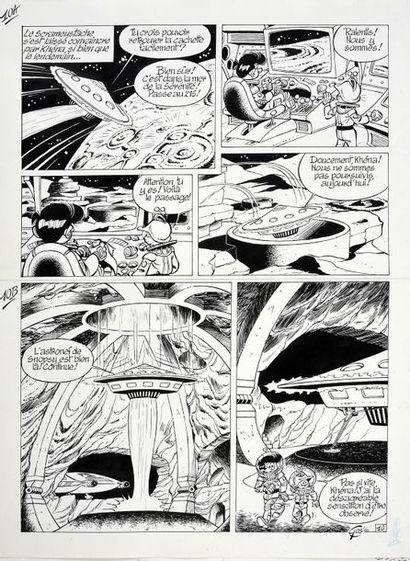 GOS (Roland Goossens, dit -1937) Le Scrameustache, tome 16. Le grand retour Planche...