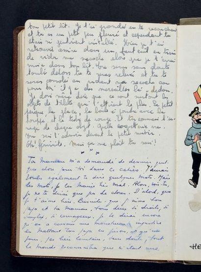 HERGÉ (Georges Remi, dit.1907-1983) TINTIN. L'ARMISTICE DE 1945 EN HOMMAGE À JEAN...