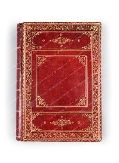 BIBLIOTHÈQUE DE LA REINE OLGA DE GRÈCE. Agenda ayant appartenu à la souveraine,...