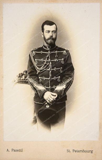 NICOLAS II, empereur de Russie (1868-1918). Portrait photographique par Alexandre...