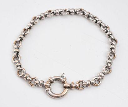 Bracelet en or gris 750‰, maille fantaisie,...