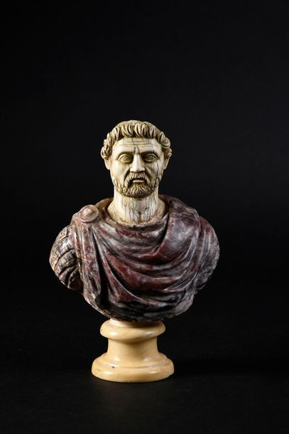 Buste d'empereur romain, composite, le buste...