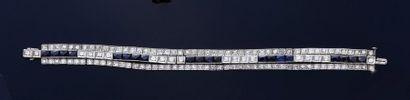 Bracelet souple en platine 800e à motif de...