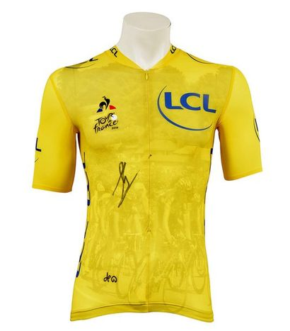 Yellow jersey of the 6th stage, commemorating the 100th anniversary of its creation...