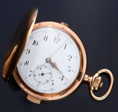 Montre Chronographe savonnette en or à répétition...