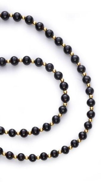 Collier de perles de grenat en chutes, à...