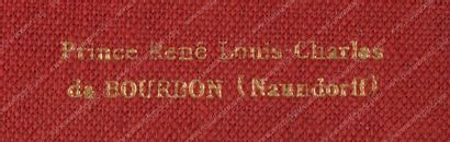 NAUNDORFF, René-Louis-Charles dit prince René Louis-Charles de Bourbon