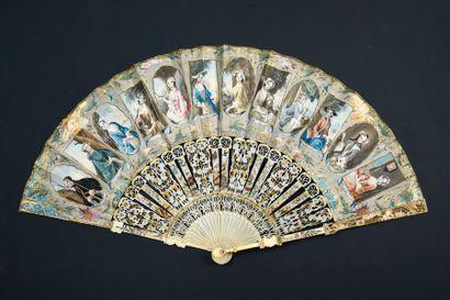 Le calendrier de la mode, vers 1750-1760...