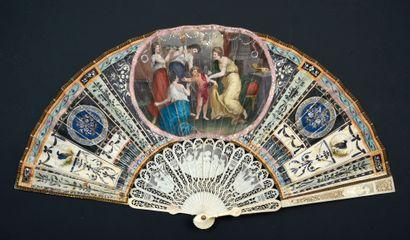 La toilette de l'Amour, vers 1790-1800 Éventail,...