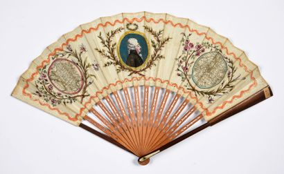 Hommage à Mirabeau, vers 1791 Éventail plié,...