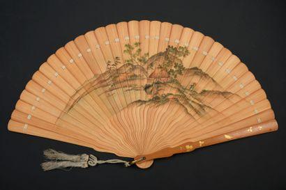 «Ita Ogi»,Vue de montagnes, Japon, vers 1890...