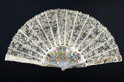 Luxuriance impériale, vers 1890 Grand éventail,...