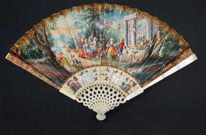 La joie de la mariée, vers 1720-1730 Éventail...