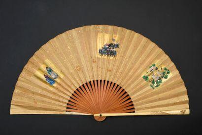 Vie nippone, Japon, XIXe siècle Éventail...
