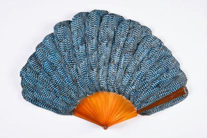 Petit geai, vers 1900 Petit éventail en plumes...
