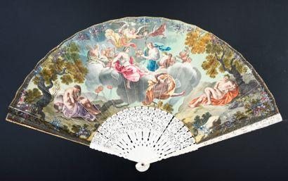 Les quatre saisons, vers 1730-1740 Éventail...