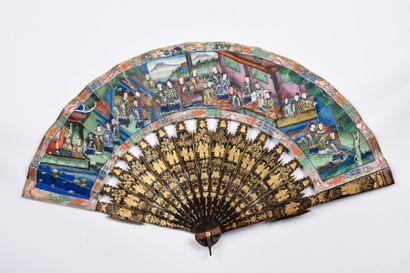 Une journée au palais, Chine, XIXe siècle...
