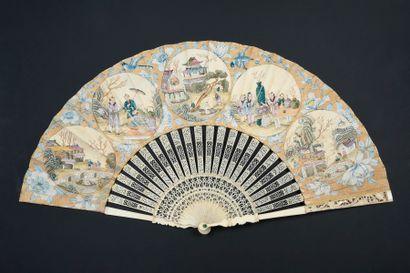 Voyage en Chine, vers 1760-1770 Éventail...