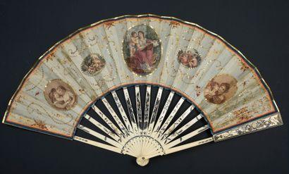 L'amour guidant la Poésie, vers 1780-1790...
