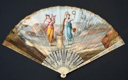 Offrande des nymphes, vers 1820-1830 Éventail...