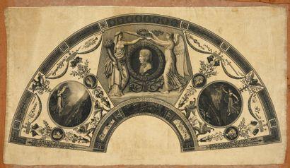 Bonaparte couronné par la Paix et la Victoire....
