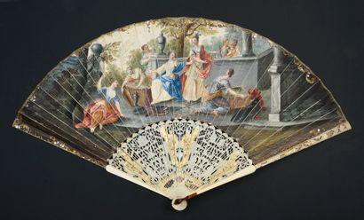 Achille découvert, vers 1740 Éventail plié,...