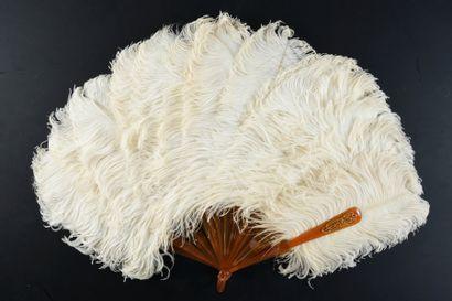 Blancheur, vers 1880-1890 Éventail en plumes...