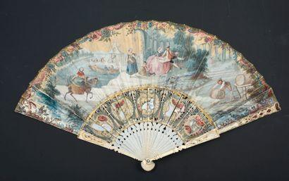 Les préparatifs de la fête, vers 1750-1760...