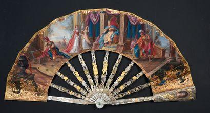 Salomon et la reine de Saba, vers 1750 Éventail...