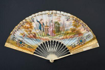 Promesse de voyage, vers 1820-1830 Éventail...
