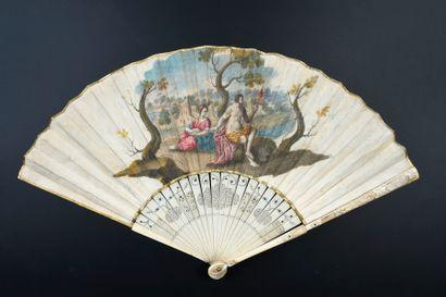 Hercule et Omphale, vers 1700-1720 Éventail...