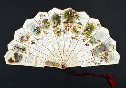 Kalender für 1892 Éventail de type brisé...
