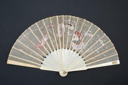 Dragon, Chine, début du XXe siècle Éventail...
