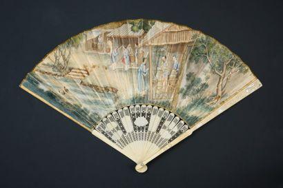 Le commerce de la soie, Chine, XVIIIe siècle...