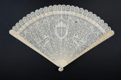 Fils d'ivoire, Chine, vers 1780-1800 Éventail...