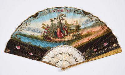 Le galant et les jeunes filles, vers 1820-1830...