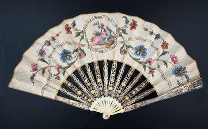 Rameaux fleuris, vers 1770-1780 Éventail...