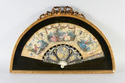 L'amour unit les cœurs, vers 1780 Éventail...